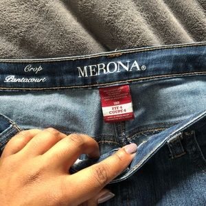 Crop style jeans